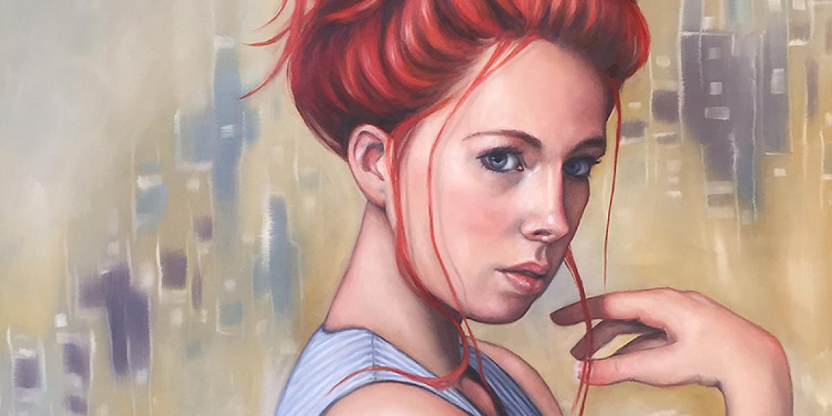 """Larissa, Oil, 36"""" x 24"""""""
