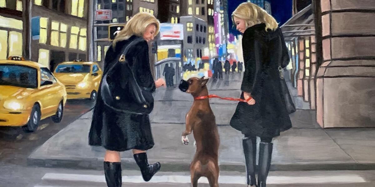 "Westminster Dog Show, Oil, 24""x18"""